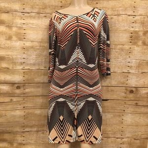 TART | Abstract Long Sleeve Mini Dress Size Medium
